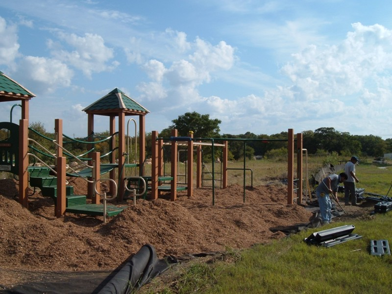 Engineered Wood Fiber Commercial Playground Equipment